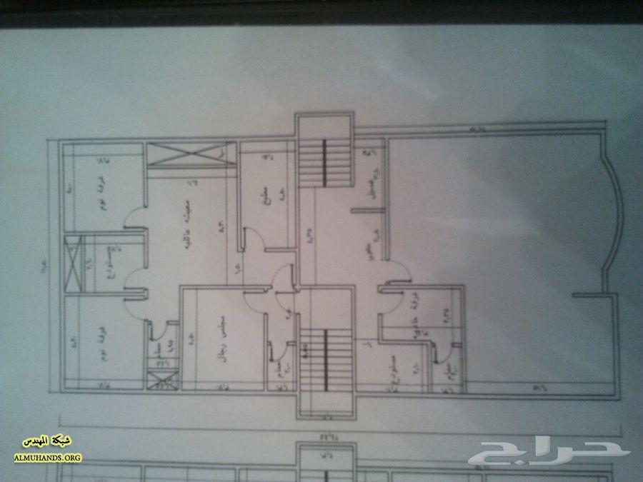 مخطط بيت عائلي مساحة 450 متر مخطط فيلا عائليه بمساحه 450 متر
